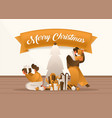christmas gifts banner template cartoon vector image vector image