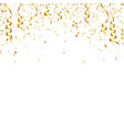 christmas golden confetti with ribbon falling vector image vector image