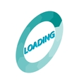 Circle loading bar icon isometric 3d style vector image vector image
