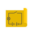 circuit icon flat style vector image