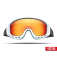 Classic snowboard ski goggles with colorful glass vector image vector image
