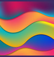 colorful elegant fluid waves abstract background vector image vector image