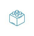 constructor block linear icon concept constructor vector image vector image
