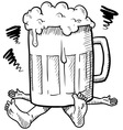 Doodle squash beer mug vector | Price: 1 Credit (USD $1)
