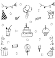 Doodle wedding element party vector image vector image