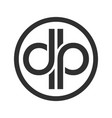 dp initials custom unlimited circular symbol logo vector image