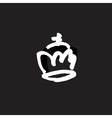 drawn crown vector image