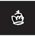 drawn crown vector image vector image