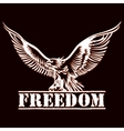eagle of freedom vector image vector image