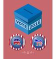 Election 2016 Elephant versus Donkey Banner vector image vector image