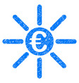 euro distribution grunge icon vector image vector image