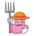farmer sock character cartoon style vector image