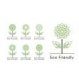flower ecological logos set vector image vector image