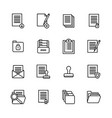 folders thin line icon set vector image