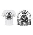gangster bandit character t-shirt mockup vector image vector image