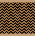 gold and black zig zag seamless pattern vector image vector image