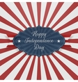 Happy Independence Day textile greeting Badge vector image vector image