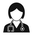 healthcare nurse icon simple style vector image vector image