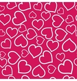 Heart Seamless Pink Background vector image