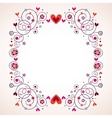 hearts and flowers frame 2 vector image vector image