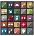 Icons equipment for the gym vector image vector image