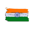 india flag painted by brush hand paints art flag vector image vector image