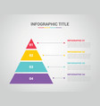 infographic template with pyramid style with free vector image vector image