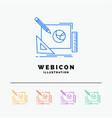 logo design creative idea design process 5 color vector image