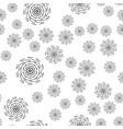 mandala seamless pattern on white background vector image vector image