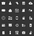 Mobile icons on gray background vector image vector image