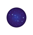Night sky with stars icon cartoon style vector image vector image