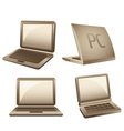 notebook icons vector image vector image