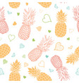 orange green pineapples stars summer vector image vector image