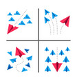 paper plane conceptual and set vector image vector image