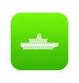 passenger ship icon digital green vector image vector image