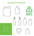 plastic recyclable items vector image vector image