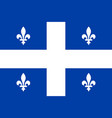 quebec sovereignty movement flag in proportions vector image vector image