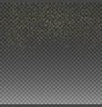 rain golden golden glitter confetti vector image vector image