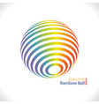rainbow ball logo vector image