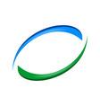 recycle swoosh balance blue green symbol design vector image vector image
