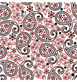 red black paisley seamless pattern image vector image vector image