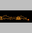 san marino light streak skyline vector image
