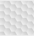 seamless hexagons white wall texture vector image vector image