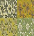 Set 4 snake skin texture Seamless pattern python vector image