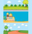 set of different landscape vector image vector image