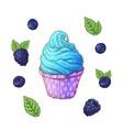 set of ice cream cone vector image vector image