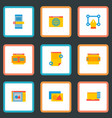 set of website development icons flat style vector image vector image