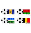 Soccer Ball of Barbados Belarus Bashkortostan vector image vector image