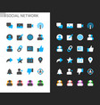 social network icons light and dark theme vector image