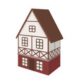 stylized english cottage architectural cottage vector image